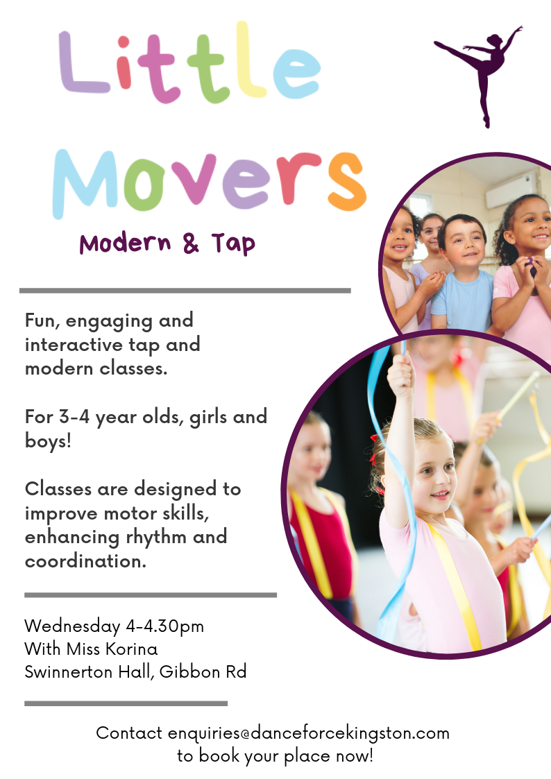 NEW Little Movers modern and tap for 3-4 year olds