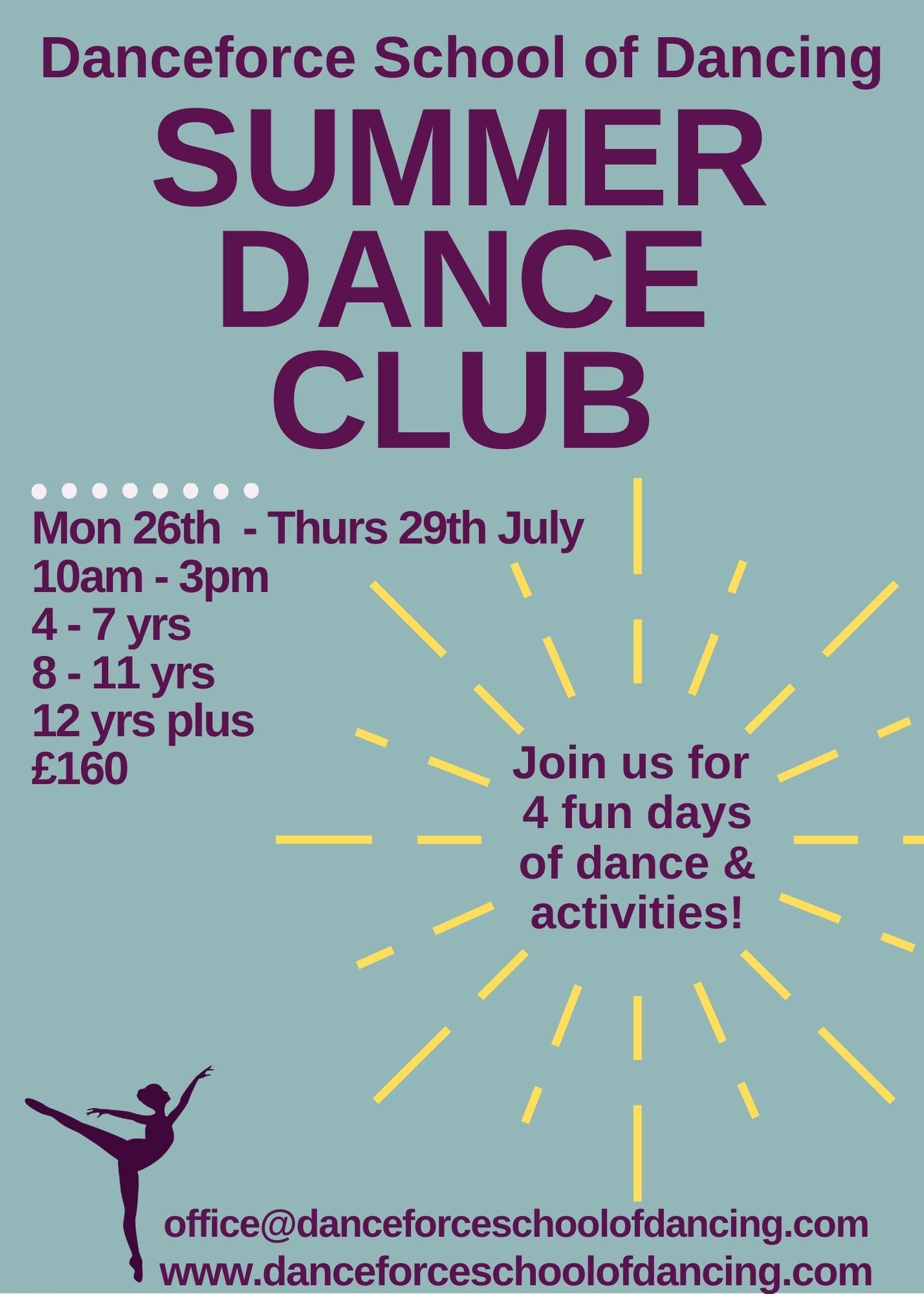 Danceforce Summer Dance Club!
